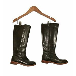 Cole Haan Brooklynn Stud Leather Tall Riding Boots